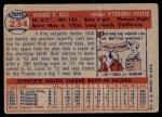 1957 Topps #234  Dick Cole  Back Thumbnail