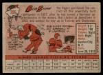 1958 Topps #206  Bob Shaw  Back Thumbnail