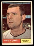 1961 Topps #318  Danny O'Connell  Front Thumbnail