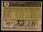 1961 Topps #34  Wynn Hawkins  Back Thumbnail