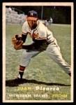 1957 Topps #383  Juan Pizarro  Front Thumbnail