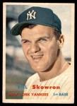 1957 Topps #135  Bill Skowron  Front Thumbnail