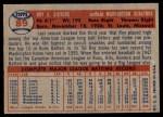 1957 Topps #89  Roy Sievers  Back Thumbnail
