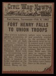 1962 Topps Civil War News #5   Exploding Fury Back Thumbnail