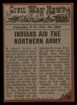 1962 Topps Civil War News #84   Deadly Arrows Back Thumbnail
