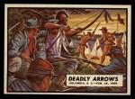 1962 Topps Civil War News #84   Deadly Arrows Front Thumbnail
