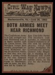1962 Topps Civil War News #22   Wave of Death Back Thumbnail