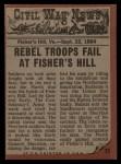 1962 Topps Civil War News #77   Trapped Back Thumbnail