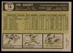 1961 Topps #18  Mudcat Grant  Back Thumbnail