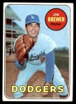 1969 Topps #241  Jim Brewer  Front Thumbnail