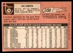 1969 Topps #158  Joe Gibbon  Back Thumbnail