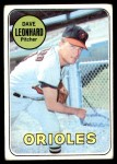 1969 Topps #228  Dave Leonhard  Front Thumbnail