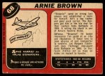 1968 O-Pee-Chee #68  Arnie Brown  Back Thumbnail