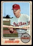 1968 Topps #98  Gary Sutherland  Front Thumbnail