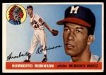 1955 Topps #182  Humberto Robinson  Front Thumbnail