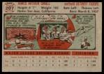 1956 Topps #207  Jim Small  Back Thumbnail
