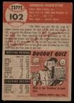 1953 Topps #102  Connie Ryan  Back Thumbnail