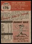 1953 Topps #176  Don Hoak  Back Thumbnail