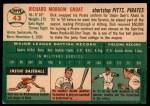1954 Topps #43 WHT Dick Groat  Back Thumbnail