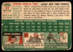 1954 Topps #37 WHT Whitey Ford  Back Thumbnail
