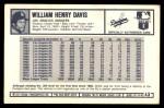 1973 Kellogg's #43  Willie Davis  Back Thumbnail