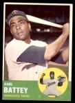 1963 Topps #410  Earl Battey  Front Thumbnail
