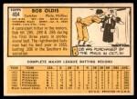 1963 Topps #404 CNT Bob Oldis  Back Thumbnail