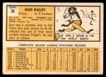 1963 Topps #38  Bud Daley  Back Thumbnail