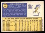 1970 Topps #60  Jim Wynn  Back Thumbnail