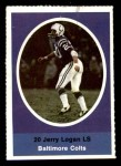 1972 Sunoco Stamps  Jerry Logan  Front Thumbnail