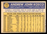 1970 Topps #535  Andy Kosco  Back Thumbnail
