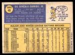 1970 Topps #48  Gill Garrido  Back Thumbnail