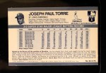 1971 Kellogg's #62  Joe Torre  Back Thumbnail
