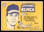 1970 Topps #464   -  Johnny Bench All-Star Back Thumbnail