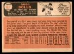 1966 Topps #301  Greg Bollo  Back Thumbnail