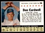 1961 Post #194 BOX Don Cardwell   Front Thumbnail