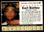 1961 Post #97 BOX Earl Battey   Front Thumbnail