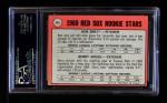 1969 Topps #476 WN  -  Ken Brett / Jerry Moses Red Sox Rookies Back Thumbnail