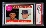 1969 Topps #476 WN  -  Ken Brett / Jerry Moses Red Sox Rookies Front Thumbnail