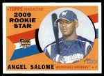 2009 Topps Heritage #121  Angel Salome  Front Thumbnail