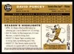2009 Topps Heritage #199  David Purcey  Back Thumbnail