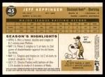 2009 Topps Heritage #45  Jeff Keppinger  Back Thumbnail