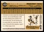 2009 Topps Heritage #143  Alcides Escobar  Back Thumbnail