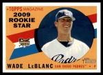 2009 Topps Heritage #141  Wade LeBlanc  Front Thumbnail