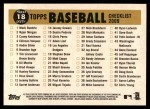 2009 Topps Heritage #18   Dodgers Team Checklist Back Thumbnail