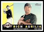 2009 Topps Heritage #154  Rich Aurilia  Front Thumbnail