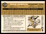 2009 Topps Heritage #154  Rich Aurilia  Back Thumbnail
