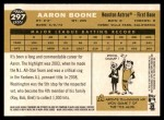 2009 Topps Heritage #297  Aaron Boone  Back Thumbnail