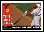 2009 Topps Heritage #388   -  Ryan Howard World Series Front Thumbnail