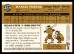 2009 Topps Heritage #344  Rafael Furcal  Back Thumbnail